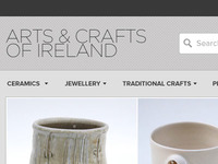 Arts & Crafts of Ireland e-commerce header