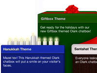 Olark Holiday Themes