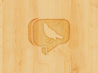 Olark Logo in Wood