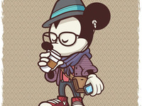 Hipster Mickey -WonderGround Gallery