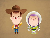 Kawaii Woody and Buzz