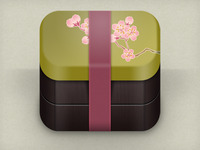 sakura bento box icon