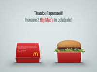 2 Big Mac's to celebrate!