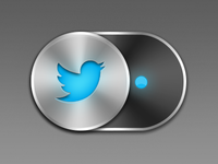 Sliding Twitter Button