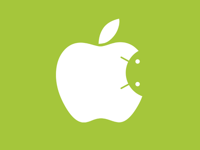 Android inside Apple logo