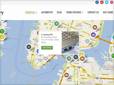 Directory Portal WP Theme - Item on the Map