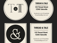 Thread & Tale calling cards