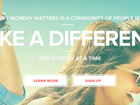Every Monday Matters - Elevator Pitch Header