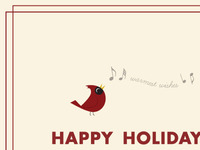 Holiday Cardinal Company Card