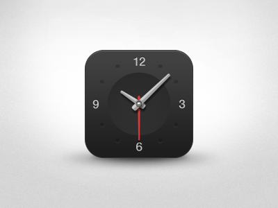 Download Dark Clock App Icon