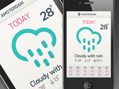 Benzai_weatherappv1_dribbble
