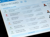 iPad App Design \\ Manager Dashboard