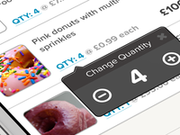 Checkout Basket - Change Quantity popover