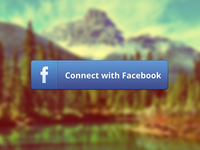 Facebook connect button - free psd