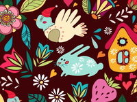Cute cartoon pattern