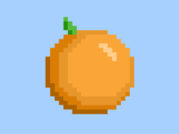 Pixelated Orange