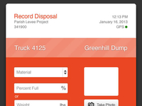 Disposal Ticket Screen