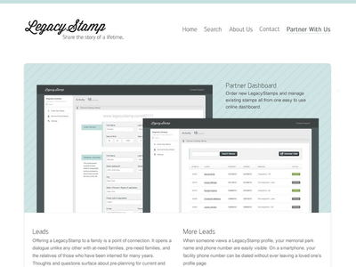 LegacyStamp - Partner Page