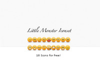Little Moster Iconset - Free!