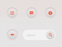 iPad App UI Elements - Rounded