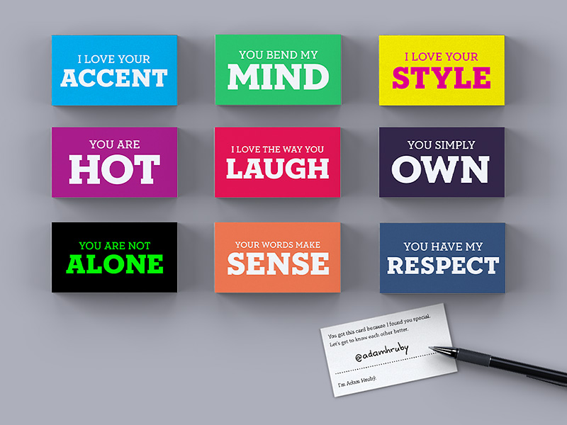 Adam's Moment Cards on Dribbble