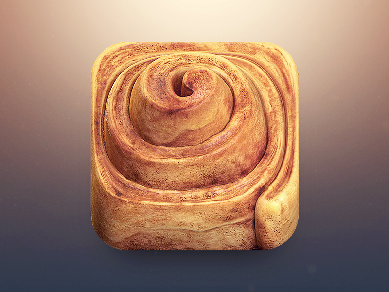 Cinnamon Roll App Icon