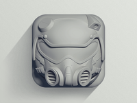 """FLAT"" Helmet Icon"
