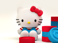 3d Icon Design - Hello Kitty