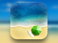 App Icon Design - Sandy Beach