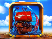 App Icon Design - For Pirate Ship Game