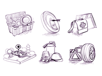 3D Icon Sketches