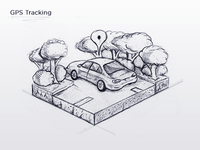 GPS Tracking Icon - Sketch