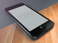 iPhone5 Template PSD