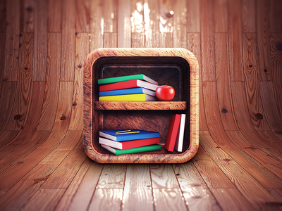 App Icon Design - Bookshelf