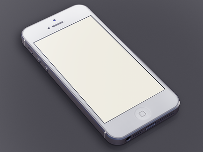 Download White iPhone5 Template
