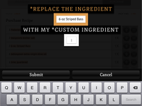 Replace Ingredient