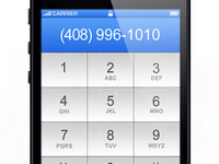 iPhone 5  Phone Application
