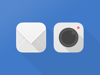 Mail & Camera iOS icons