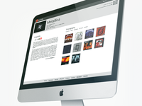 Music Info website prototyping
