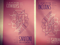 Cowboys & Indians Film Fest Poster (Reversible)