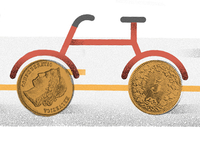 Cycling makes cents