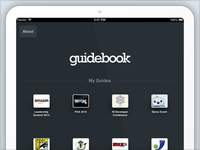 Guidebook iPad Guide Select Screen