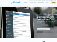 Guidebook for iPad landing page