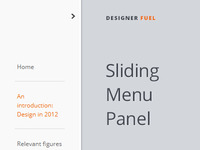 Sliding Menu Panel - (Free Resource) - HTML5/CSS3/jQuery