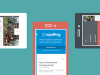 Appblog customization on mobile