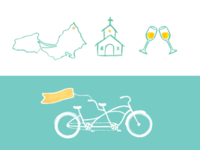 wedding invitation icons