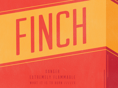 Finch and the Almost Gig Poster