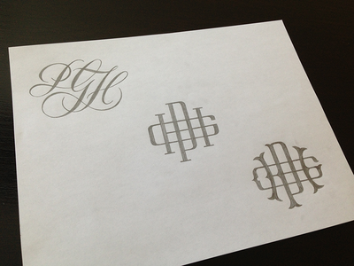 PGH Monogram Sketches