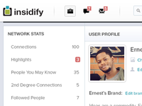 Insidify Profile Page