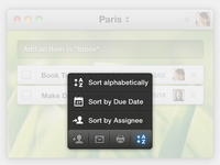 Wunderlist Action Bar